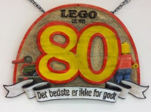 LEGO turns 80 today & in commemoration Master Model Builder, Stephen Gerling, made this great hand carved plaque.